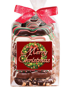 Christmas Gourmet Pretzel Bag - 8 Pc.- Can Be Customized