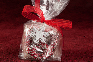 Christmas Pretzels in Favor Bag