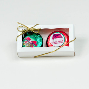 CHRISTMAS- CHOCOLATE OREO BOXED DUO - Foil-wrapped w/ Labels
