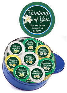 "THINKING OF YOU ""Cookie Talk"" Oreo Assortment - 16 Message Cookies in a Tin"