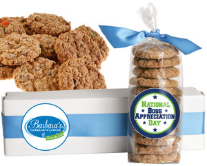 BOSS APPRECIATION  FRESH-BAKED CRUNCHY & HEARTY COOKIES - 4 Varieties/ All Sizes: Chocolate Chips, Nuts, M&MS or Cranberry