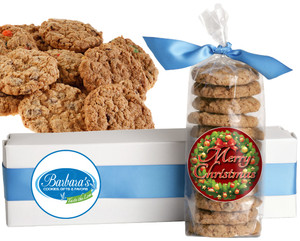 CHRISTMAS or HOLIDAY FRESH-BAKED CRUNCHY & HEARTY COOKIES - 4 Varieties/ All Sizes: Chocolate Chips, Nuts, M&MS or Cranberry