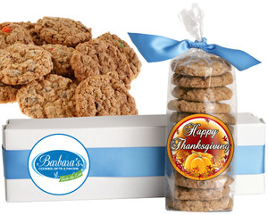 THANKSGIVING FRESH-BAKED CRUNCHY & HEARTY COOKIES - 4 Varieties/ All Sizes: Chocolate Chips, Nuts, M&MS or Cranberry