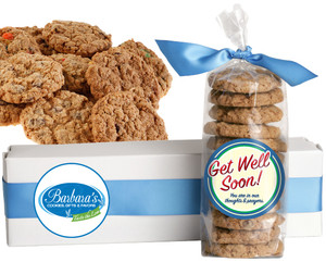 GET WELL FRESH-BAKED CRUNCHY & HEARTY COOKIES - 4 Varieties/ All Sizes: Chocolate Chips, Nuts, M&MS or Cranberry