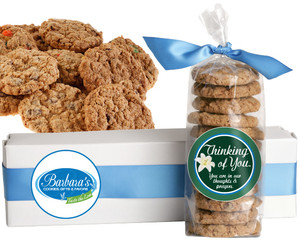 THINKING OF YOU FRESH-BAKED CRUNCHY & HEARTY COOKIES - 4 Varieties/ All Sizes: Chocolate Chips, Nuts, M&MS or Cranberry