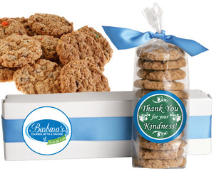 THANK YOU FRESH-BAKED CRUNCHY & HEARTY COOKIES - 4 Varieties/ All Sizes: Chocolate Chips, Nuts, M&MS or Cranberry