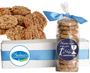 COMMUNION /CONFIRMATION FRESH-BAKED CRUNCHY & HEARTY COOKIES - 4 Varieties/ All Sizes: Chocolate Chips, Nuts, M&MS or Cranberry