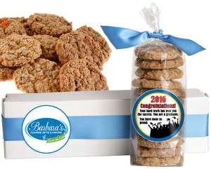 GRADUATION FRESH-BAKED CRUNCHY & HEARTY COOKIES - 4 Varieties/ All Sizes: Chocolate Chips, Nuts, M&MS or Cranberry