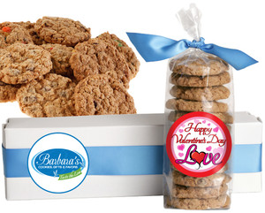 VALENTINE'S DAY FRESH-BAKED CRUNCHY & HEARTY COOKIES - 4 Varieties/ All Sizes: Chocolate Chips, Nuts, M&MS or Cranberry