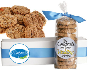 WEDDING FRESH-BAKED CRUNCHY & HEARTY COOKIES - 4 Varieties/ All Sizes: Chocolate Chips, Nuts, M&MS or Cranberry