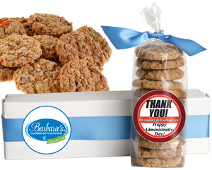 ADMIN DAY FRESH-BAKED CRUNCHY & HEARTY COOKIES - 4 Varieties/ All Sizes: Chocolate Chips, Nuts, M&MS or Cranberry