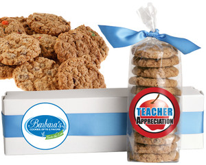 TEACHERS FRESH-BAKED CRUNCHY & HEARTY COOKIES - 4 Varieties/ All Sizes: Chocolate Chips, Nuts, M&MS or Cranberry