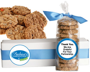 BUSINESS-TO-BUSINESS:  FRESH-BAKED CRUNCHY & HEARTY COOKIES - 4 Varieties/ All Sizes: Chocolate Chips, Nuts, M&MS or Cranberry