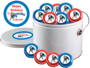 BUSINESS GIFTS - Foil-Wrapped Oreo(s) with Custom Labels - 25 Pc.  Pails