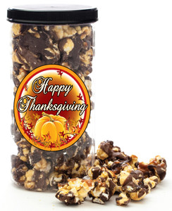 THANKSGIVING GOURMET POPCORN - Canister (Customize with any Text, Photo, Logo)