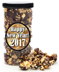 HAPPY NEW YEAR GOURMET POPCORN - Canister (Customize with any Text, Photo, Logo)