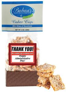 ADMINISTRATIVE ASST. Cashew Crisps - Can Be Customized