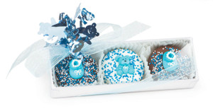 BABY BOY - 3 Pc. Boxed Decorated Chocolate Oreos SPECIAL ORDER