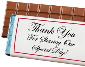 WEDDING /SHOWER FAVOR - Custom Chocolate Bar - SPECIAL ORDER