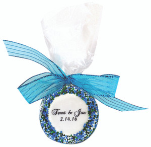 wedding shower favor custom oreo 1 pc bag with ribbon direct print