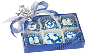 HANUKKAH  DECORATED CHOCOLATE OREOS 6 PC BOX