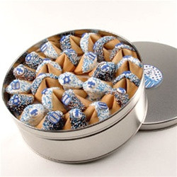 HANUKKAH  Chocolate Fortune Cookies - 50 Pc Tin- Limited Time Offer!