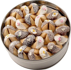 WEDDING - Decorated Fortune Cookies - 50 Pc Gift Tin -SPECIAL ORDER
