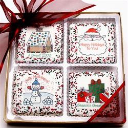 CHRISTMAS / HOLIDAY Chocolate Printed Grahams - Gift Box