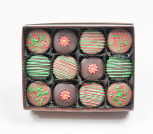 CHRISTMAS Decorated Chocolate Oreos - 12 Pc Gift Box