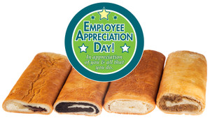 EMPLOYEE APPRECIATION NUT ROLLS & MORE  - (CAN BE CUSTOMIZED)