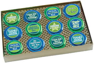 "EMPLOYEE APPRECIATION ""Cookie Talk"" Oreo Assortment - 12 Message Cookies in Gift Box"