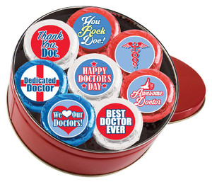 "DOCTOR APPRECIATION DAY ""Cookie Talk"" Oreo Assortment - 16 Message Cookies in a Tin"