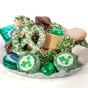 ST PATRICKS DAY COOKIE ASSORTMENT SUPREME - Cookies, Pretzel & Candy