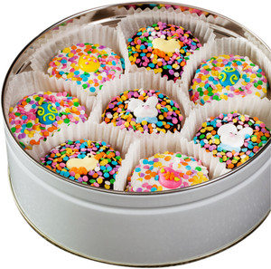 EASTER/ SPRING - Decorated Chocolate Oreos -16 Pc. Tin