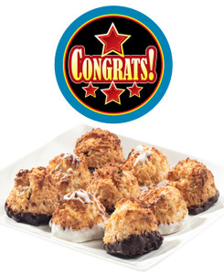 CONGRATULATIONS COCONUT MACAROONS - Many Sizes /Package Options Available