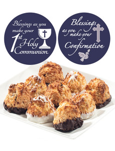 COMMUNION/CONFIRMATION COCONUT MACAROONS - Many Sizes /Package Options Available
