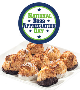 BOSSES DAY COCONUT MACAROONS - Many Sizes /Package Options Available