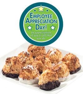 EMPLOYEE APPRECIATION  COCONUT MACAROONS - Many Sizes /Package Options Available