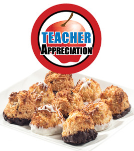 TEACHER APPRECIATION  COCONUT MACAROONS - Many Sizes /Package Options Available