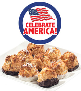 CELEBRATE AMERICA  COCONUT MACAROONS - Many Sizes /Package Options Available