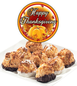 THANKSGIVING  COCONUT MACAROONS - Many Sizes /Package Options Available