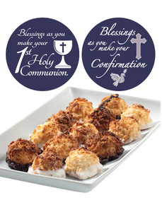 COMMUNION/CONFIRMATION MINI MACAROONS - Deliciously, Bite-Sized - each .5 oz