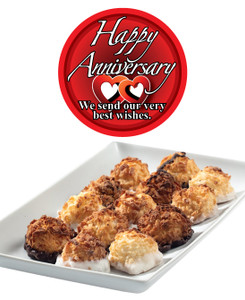 ANNIVERSARY MINI MACAROONS - Deliciously, Bite-Sized - each .5 oz