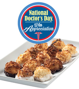 DOCTOR APPRECIATION MINI MACAROONS - Deliciously, Bite-Sized - each .5 oz