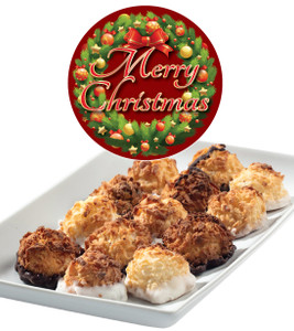 CHRISTMAS Mini Macaroons- Deliciously Bite-Sized - each .5 oz