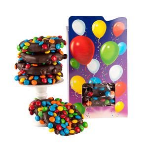 HAPPY BIRTHDAY NOVELTY GIFT - Chocolate Covered Pretzels in a Decorative 'Birthday' Box