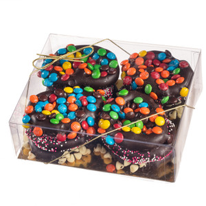 GOURMET PRETZEL CLEAR GIFT BOX - Customization Available