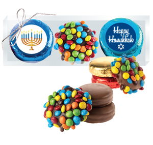 "HANUKKAH ""COOKIE TALK"" M&M  & CHOCOLATE OREO TRIO"
