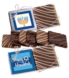 "HANUKKAH ""COOKIE TALK"" 2 Pc CHOCOLATE GRAHAM GIFT BOX"