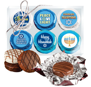 "HANUKKAH ""COOKIE TALK"" 6 Pc CHOCOLATE OREO GIFT BOX"